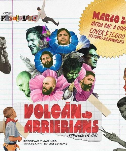 Volcán y arrierians