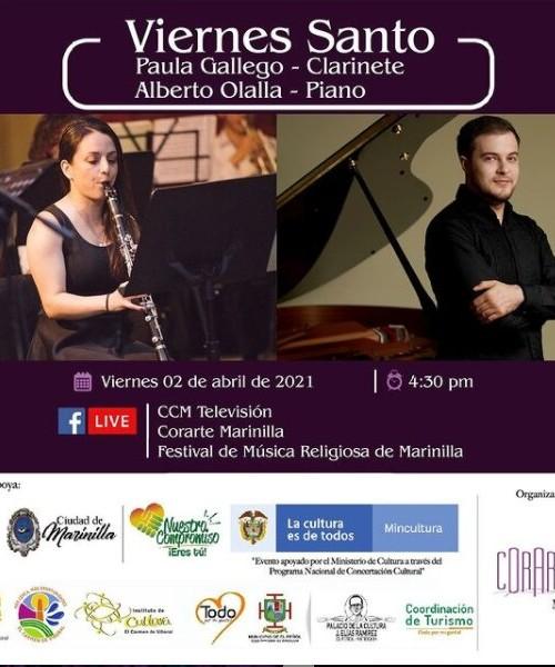 Paula Gallego- Colombia – (Clarinete) – y Alberto Olalla -España – (Piano)