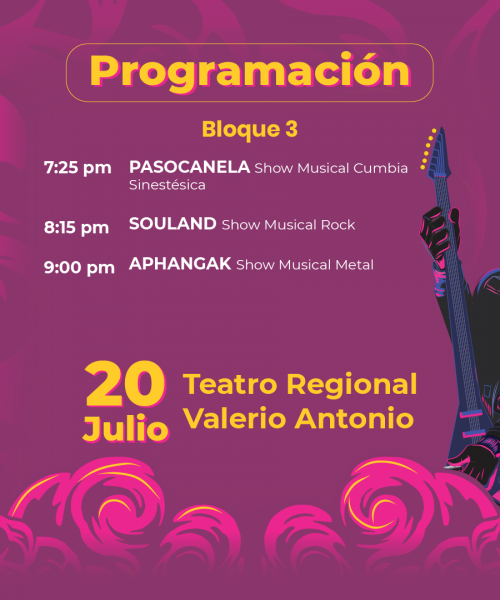 Festival Paza la Paz - Tercer bloque de artistas