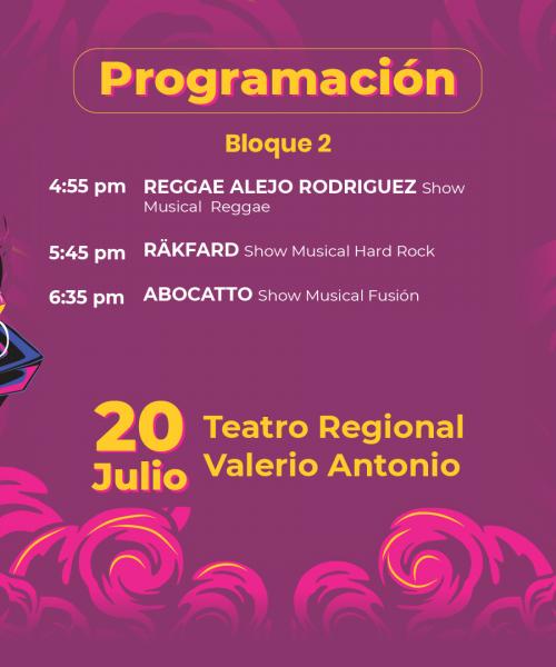 Festival Paza la Paz - Segundo bloque de artistas